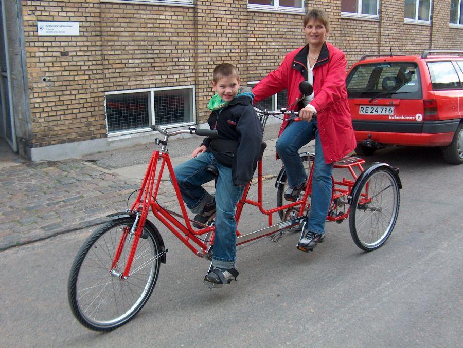 Billedet 3-hjulet tandem fra Dan-Kunst.dk