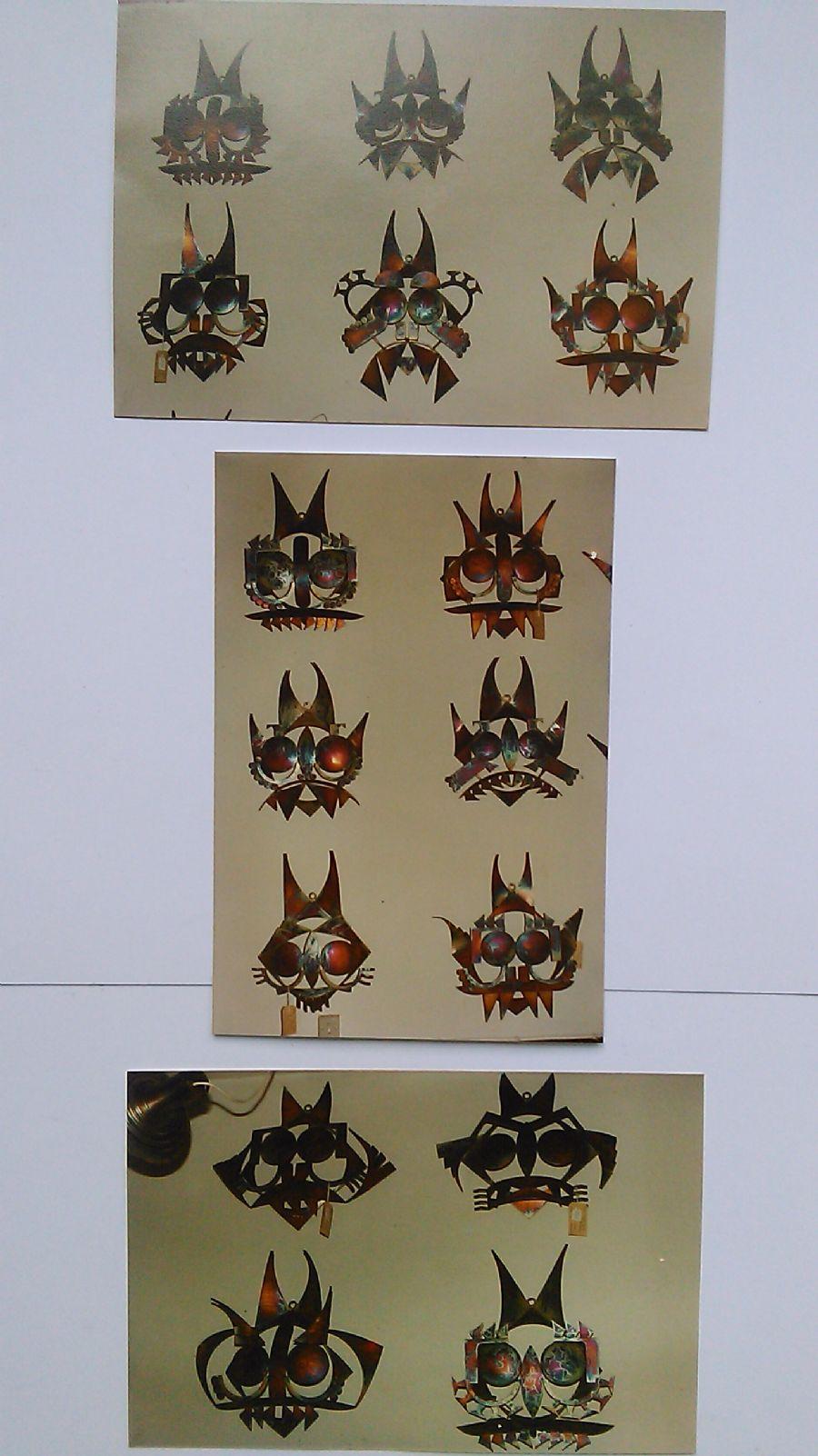 Billedet Masker i rustfrit står som er brændt.