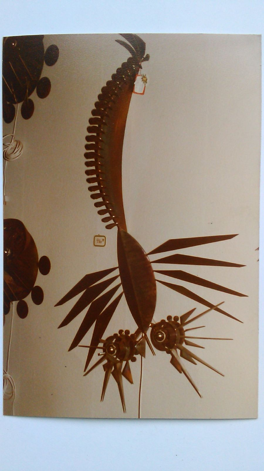 Billedet Skorpion, i brændt rustfrit stål.