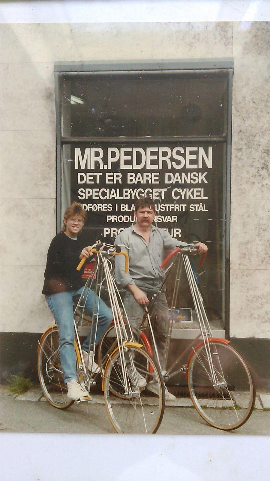 Billedet Janne min datter og mig 1983 i Valby.