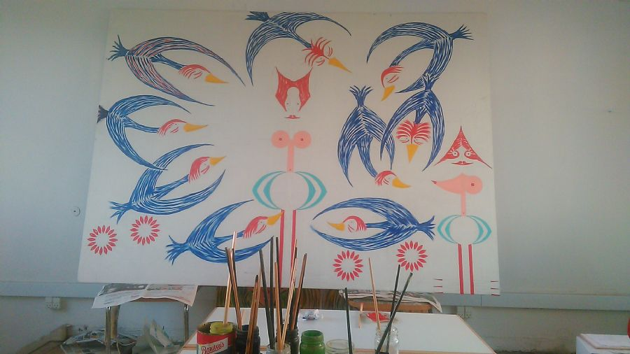 Billedet Fuglene i voodoo land.