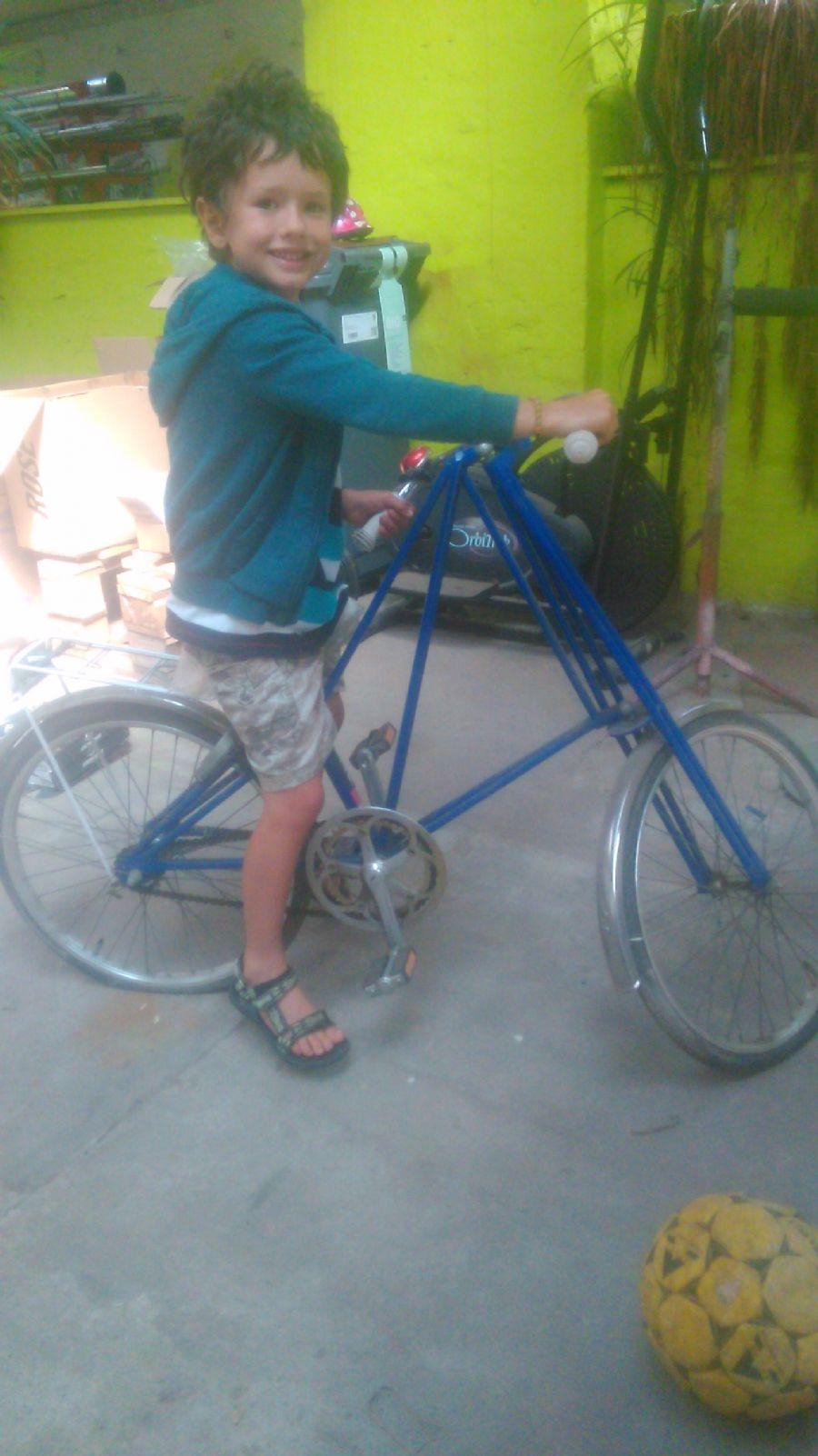 Billedet Mr.Pedersen cykel til Villads