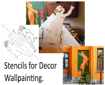 Stencils for Decor Wallpainting