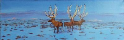 Deer�s with Christmas decoration
