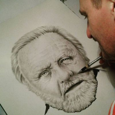 ANTHONY HOPKINS Drawing in final stages.