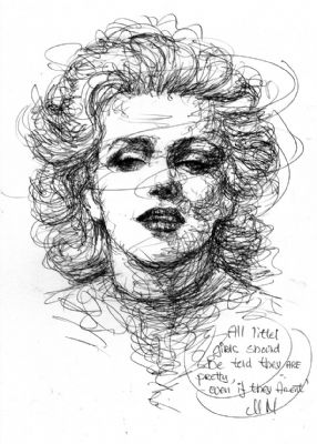 A doodling of Marilyn Monoroe By Ole M H