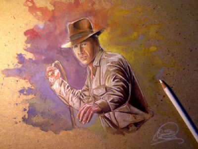 Indiana Jones on MDF, Mixed technique, B
