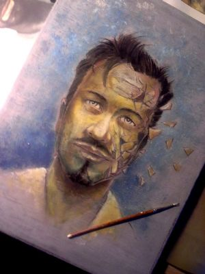 Selfportrait in progress, By; Ole M. Hed
