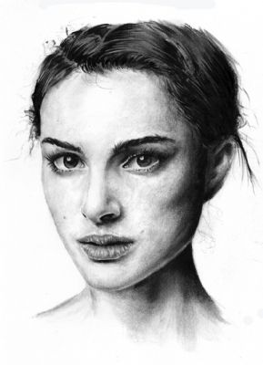 Natalie Portman drawing; by Ole M. Hedea