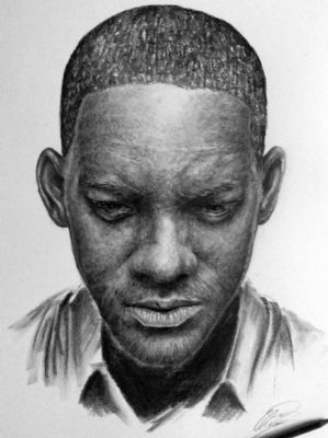Will Smith (lighter version) drawing, by