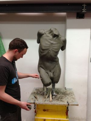 work in progress on life-size torso