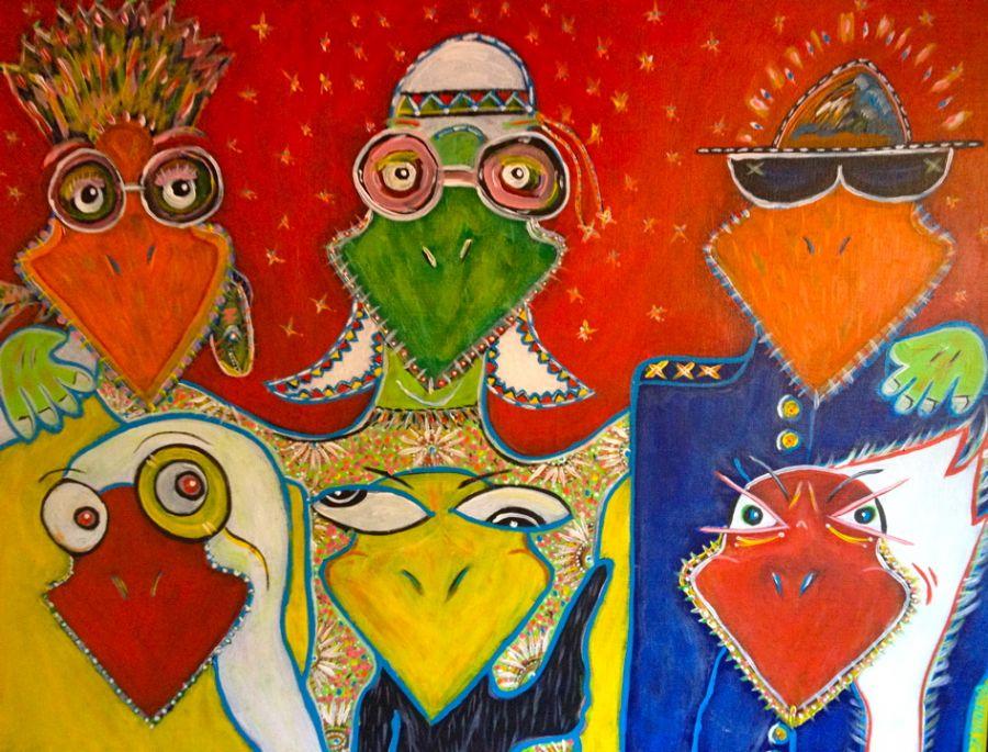 Billedet Et familie portræt (SOLGT)
