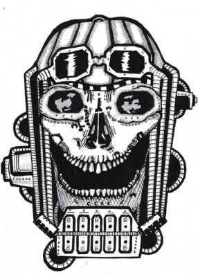 laughing mechanical skull