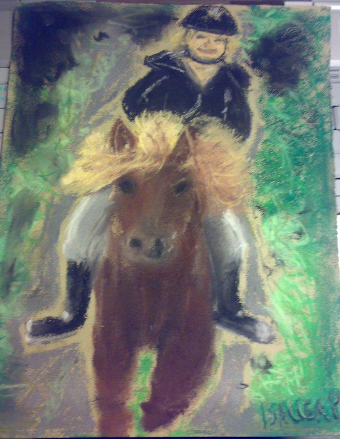 tegning af heste